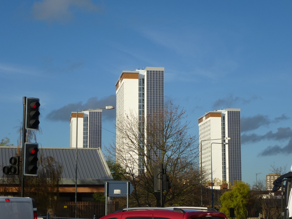 Highrises on the other side of Shepherd's Bush