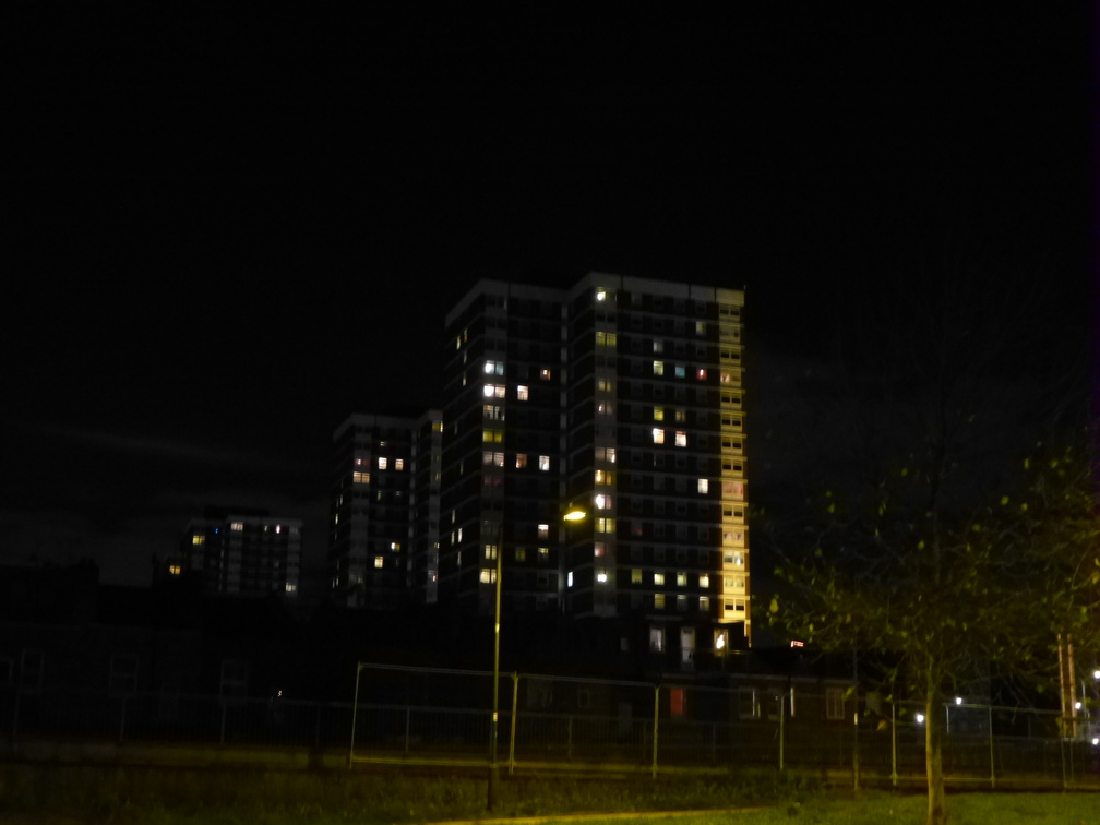 Highrises at night